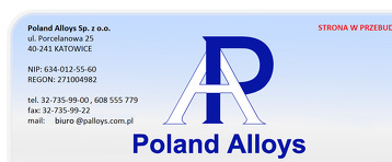 POLAND ALLOYS SP Z O O